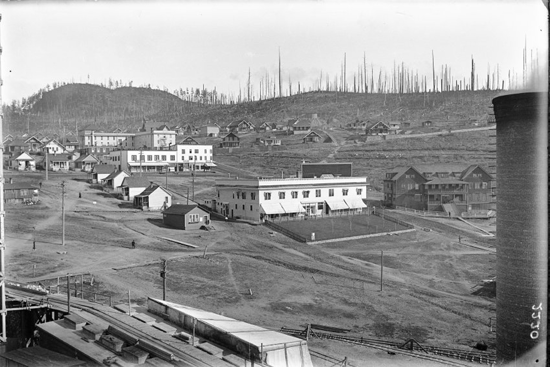 The Powell River Townsite business section in 1915.